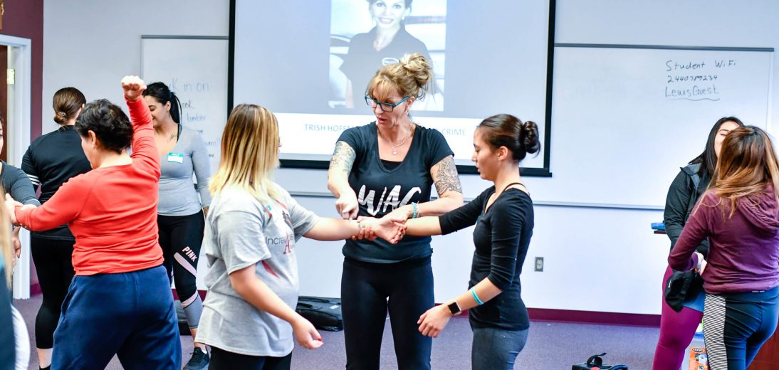 Women's self defense class in Albuquerque.